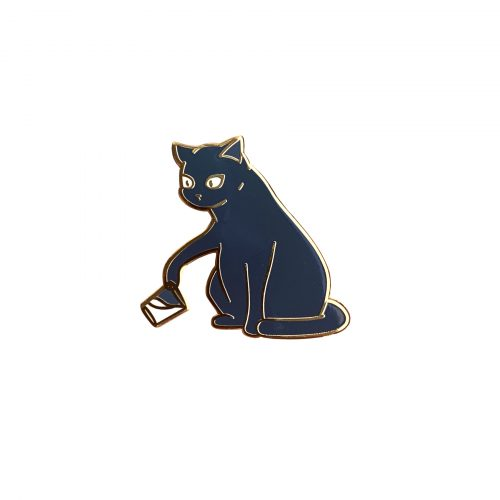 Bounty the Cat enamel pin