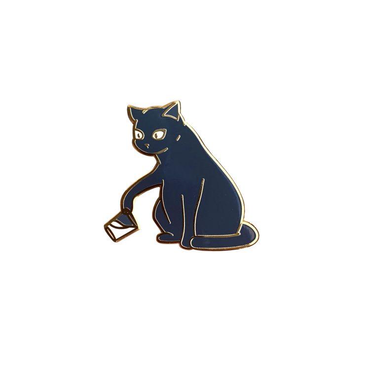 Bounty the Cat enamel pin