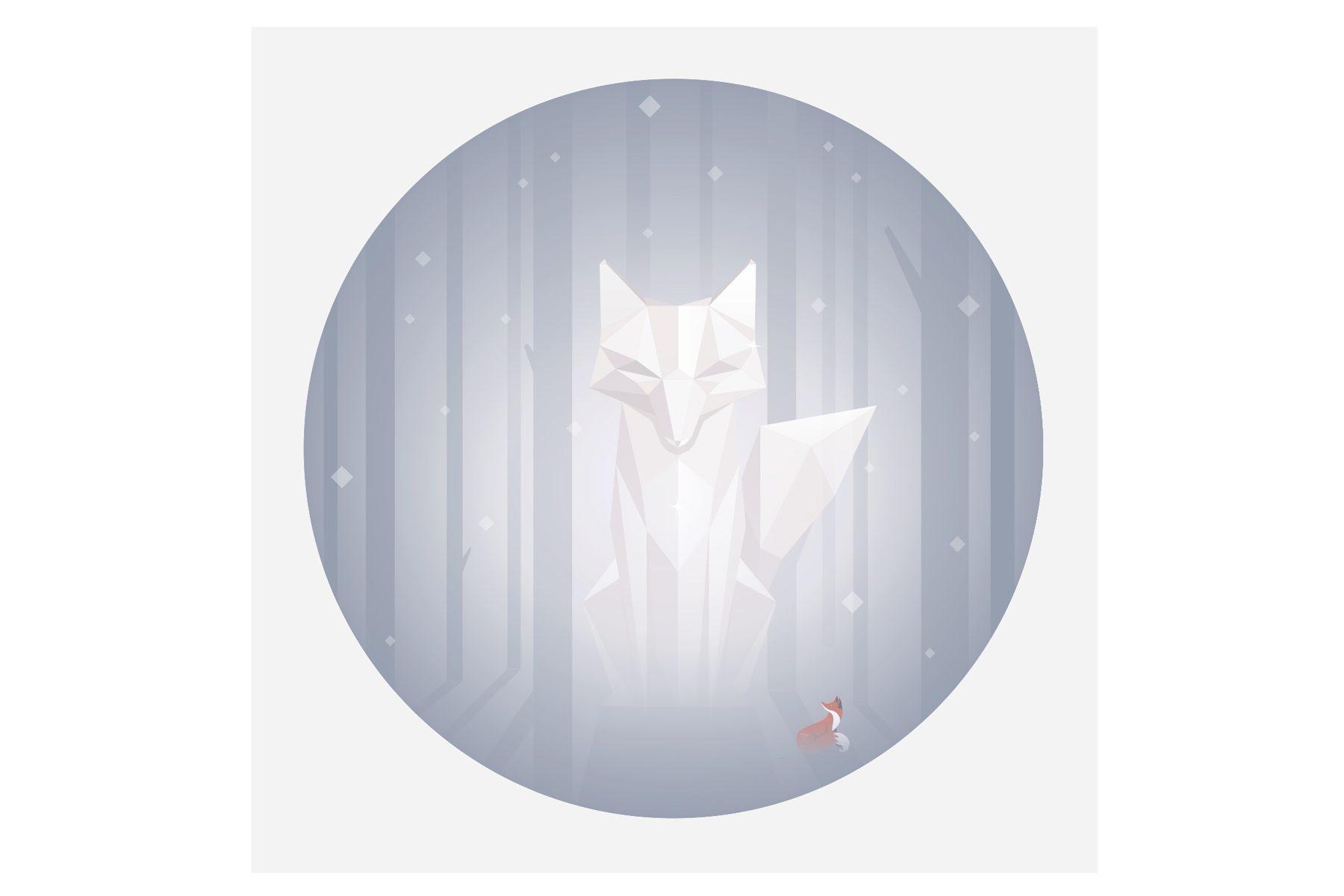 quinn the fox 1001 Nights Of Snow Card