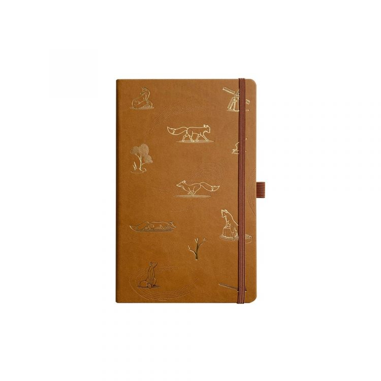 Quinn the Fox Headwinds blustery chestnut notebook