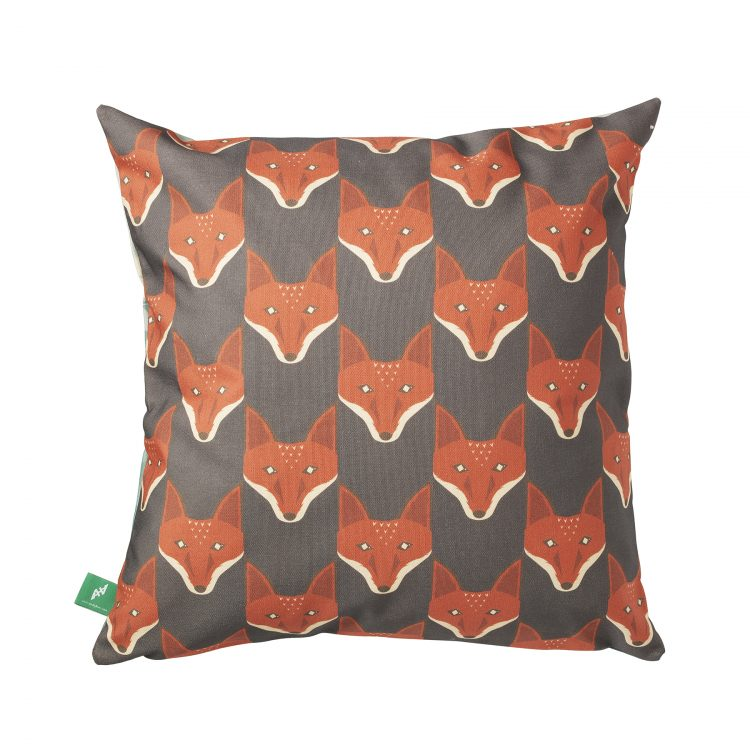 quinn the fox foxtooth cushion back