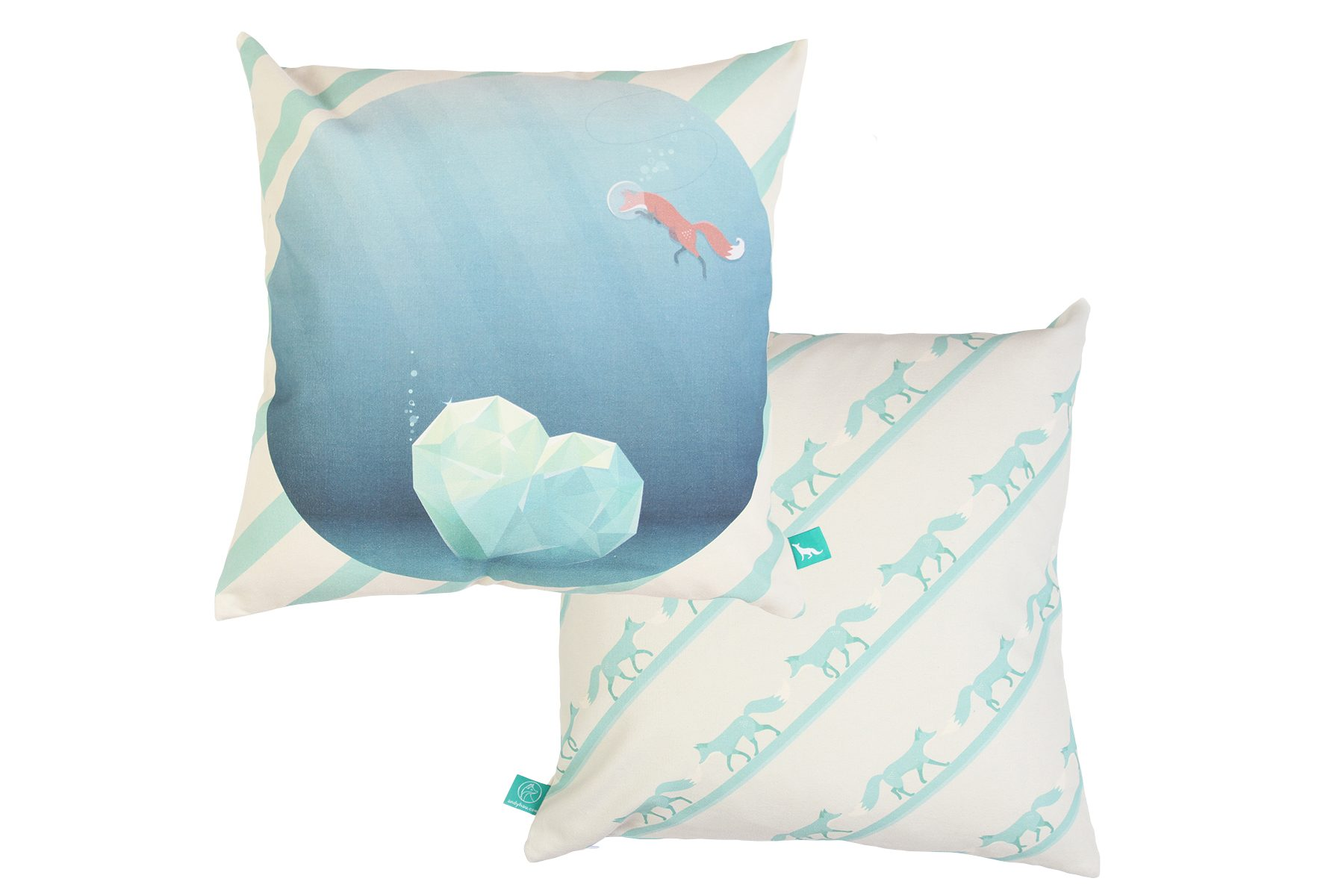 """The Fox & The Heartwreck"" Cushion Cover"