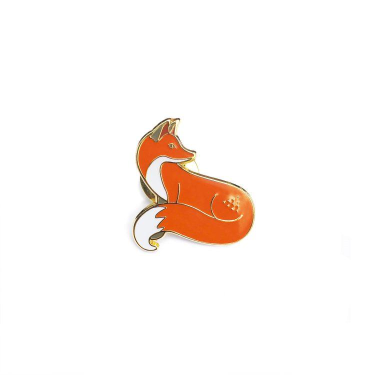 Quinn the Fox badge pin