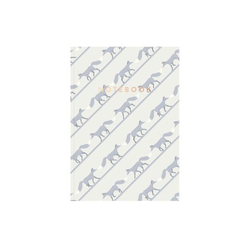 Quinn the Fox striped notebook beuregarde blue
