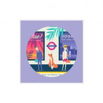 quinn the fox London Angel Tube Station card