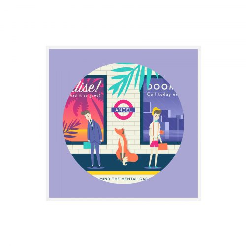 quinn the fox London Angel Tube Station card