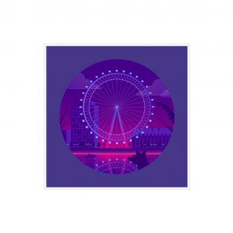 quinn the fox London Eye card