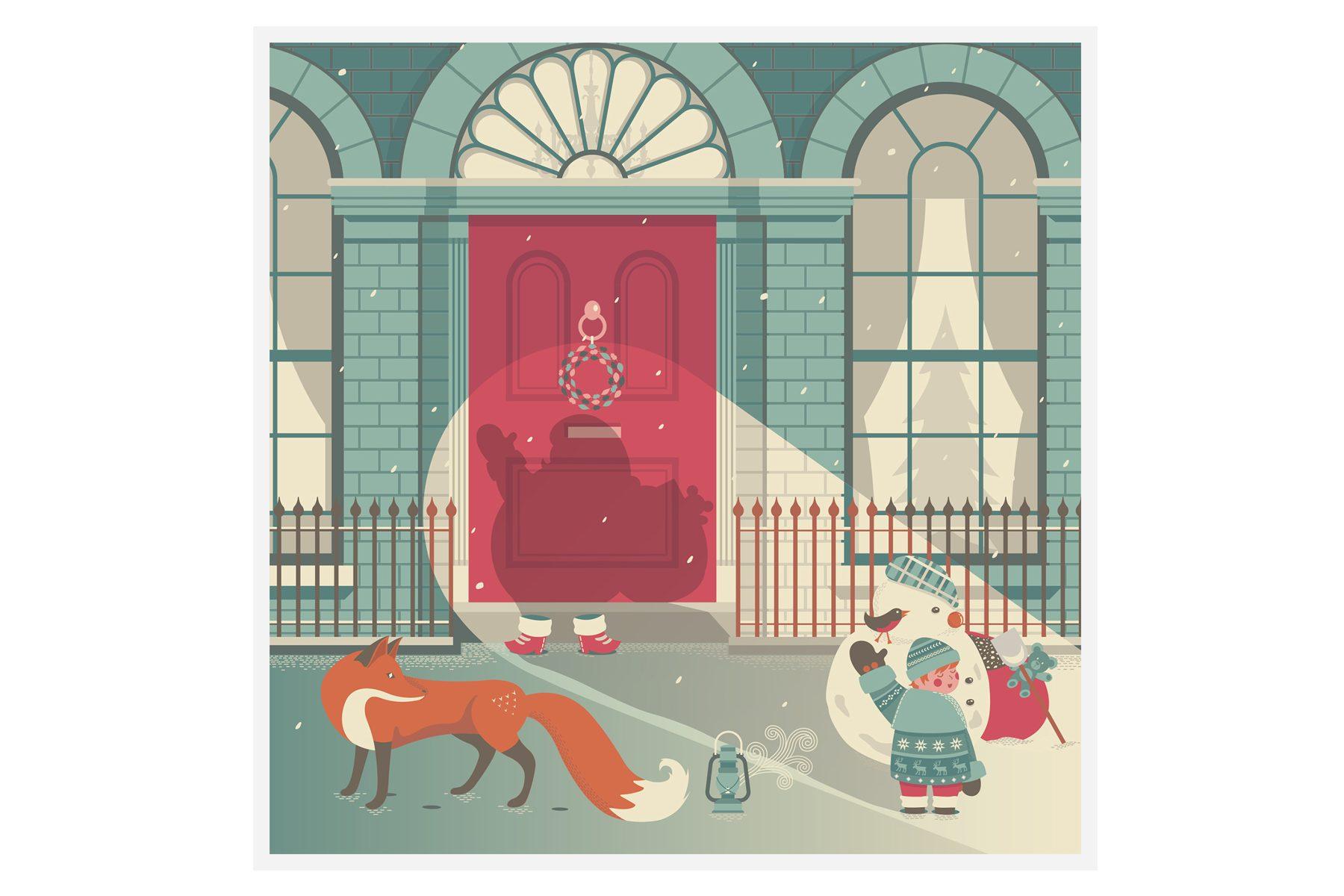 Quinn The Fox Christmas Card