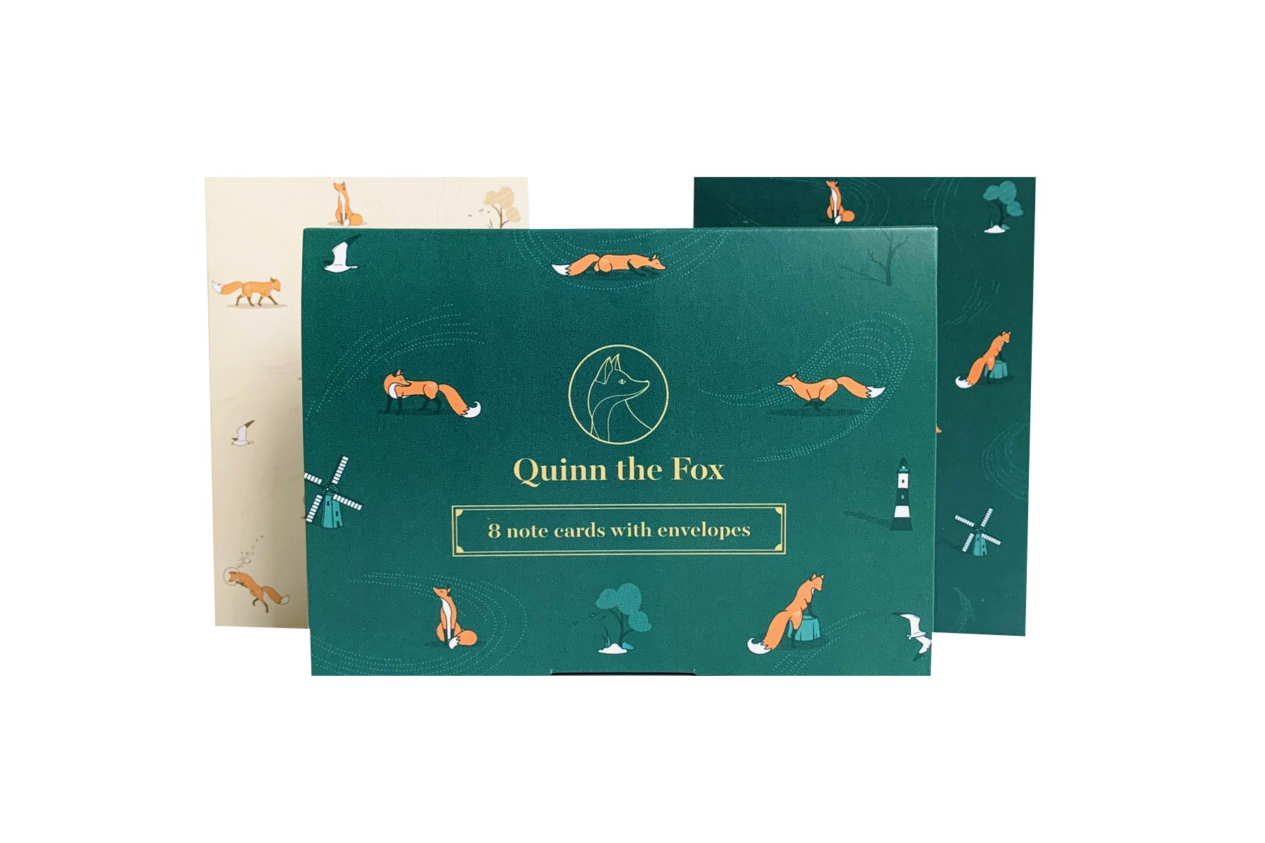 Quinn the Fox Headwinds note card set
