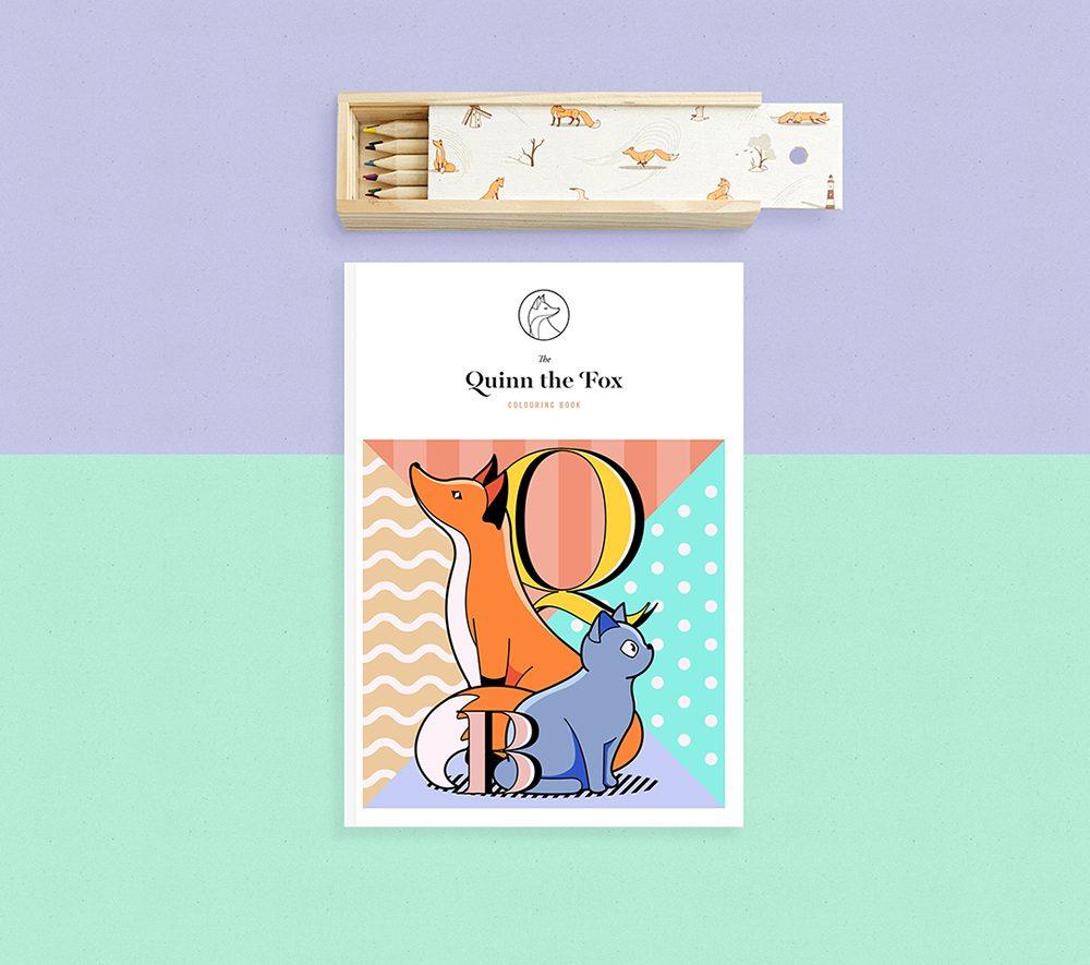 Quinn the fox colouring book header