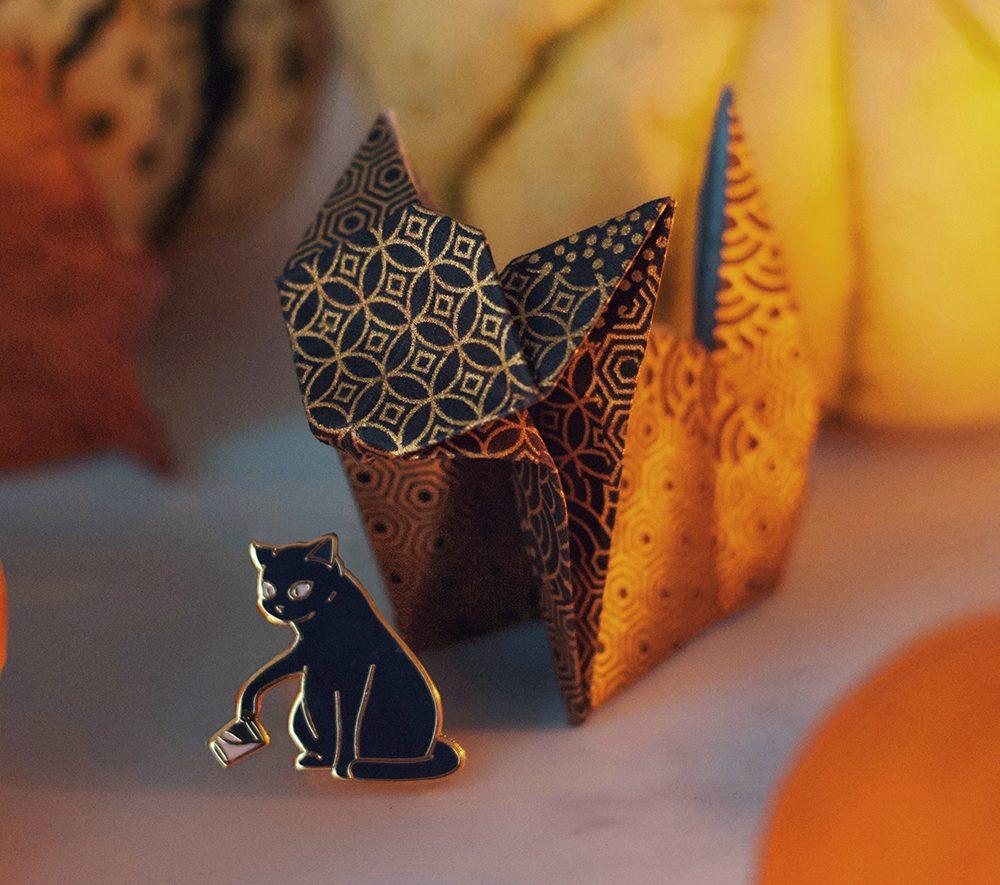 Origami Cat for Halloween