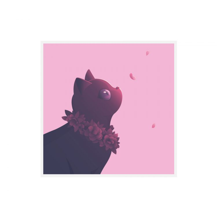 bounty the black cat greetings card