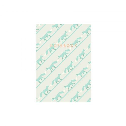 Quinnstripe Fox Notebook Saltwater Green