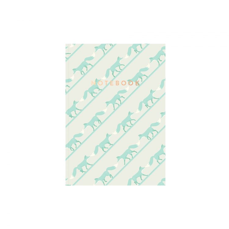 Quinnstripe Fox Notebook Saltwater Green