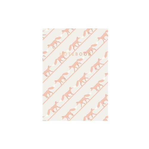 Quinnstripe Fox Notebook pink