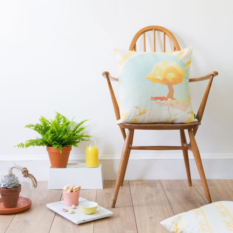 """""""The Trials of the Western Wind"""" Cushion Cover in situ"""