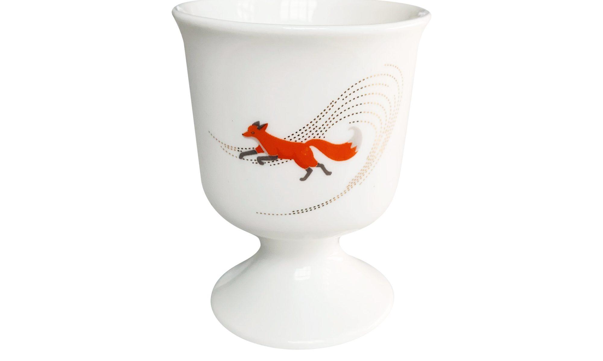 quinn the fox eggcup